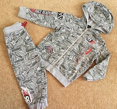 Disney Cars Lightening Mcqueen Boys Hoody Joggers Tracksuit Age 18-24 Months • 5£