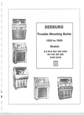 $5.99 • Buy Seeburg Master Trouble Shooting Manual For Models: 101 161, 201, 222   200 Pages