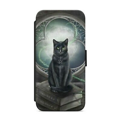 £8.99 • Buy Black Cat Gothic Mystical WALLET FLIP PHONE CASE COVER FOR IPhone Samsung   Z106