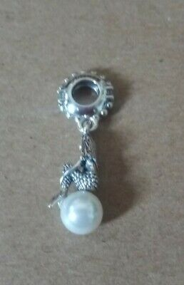 Genuine Pandora Disney Ariel Pearl Dangle Charm 798232CZ • 4.82£