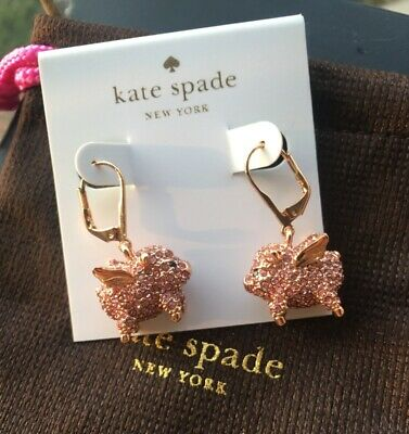 $ CDN31.88 • Buy Kate Spade New York Rose Gold Imagination Pave Pig Earrings
