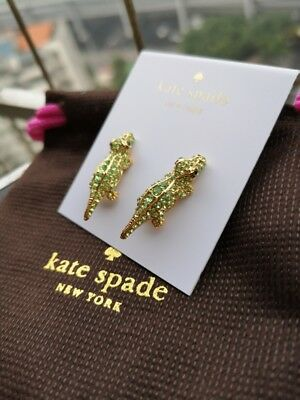 $ CDN29.32 • Buy KATE SPADE New York Gold Plated Alligator Stud Earrings