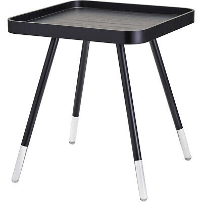 $170 • Buy Adesso WK2097-01 Blaine 21 X 19 Inch Black With Acrylic Accents End Table