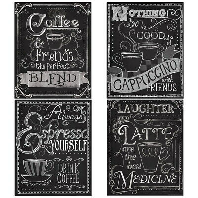 $59.96 • Buy Coffee Shop Drinks Chalkboard Style Wall Decal Set Vintage Style Decor Bundle