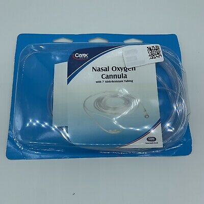 NEW Carex 7' Nasal Oxygen Cannula Kink Resistant Tubing 10100 Adult Latex Free  • 2.58£