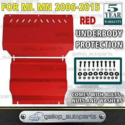 AU135 • Buy For Mitsubishi Triton ML MN Bash Plate Front Sump Guard Powder Coated RED NEW