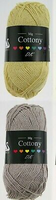 Cygnet Cottony DK Wool 50g Ball Cotton Acrylic Double Knitting Crochet Yarn • 2.69£