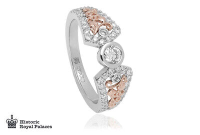 NEW Clogau 18ct White & Rose Gold Debutante Ring £1270 Off! Size P **RARE** • 1,260£