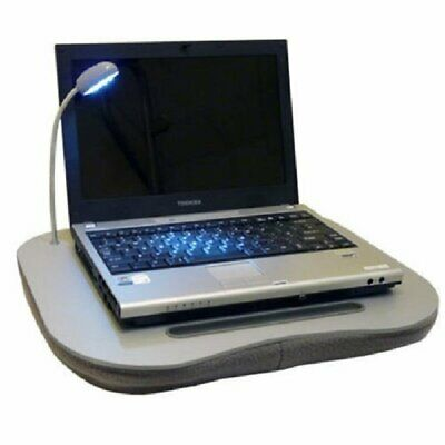 Laptop Cushion Tray With LED Light And Carry Handle Reading Table Cup Holder • 11.99£