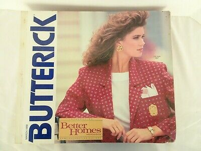 $45 • Buy Vintage March 1988 Butterick See & Sew Design Catalog Counter Book