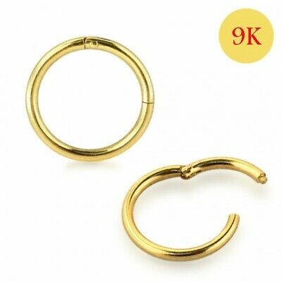AU28 • Buy 9K Solid Gold Classic Hinged Segment Clicker Ring  18G -YELLOW GOLD