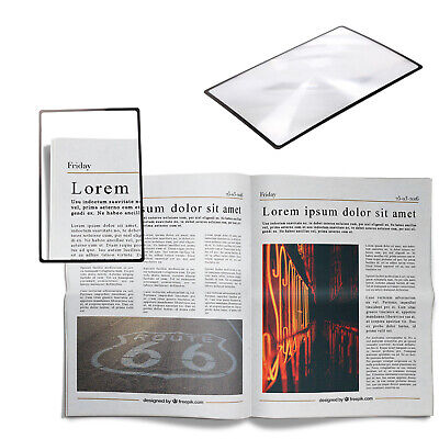 New A5 Practical  Magnifier Sheet Page Magnifying Glass Reading Aid Lens • 1.99£