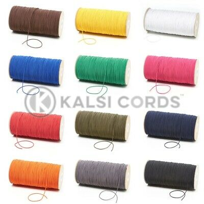 $ CDN10.38 • Buy 1.5mm THIN FINE ROUND ELASTIC STRETCH BUNGEE SHOCK CORD 12 COLOURS ANY LENGTHS