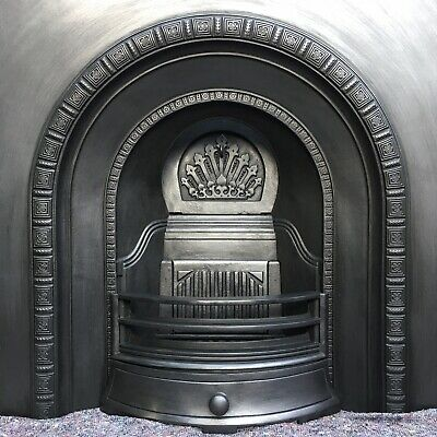 Cast Iron Fireplace / Fire Surround / Insert / Victorian Arch Style / Solid Fuel • 279£
