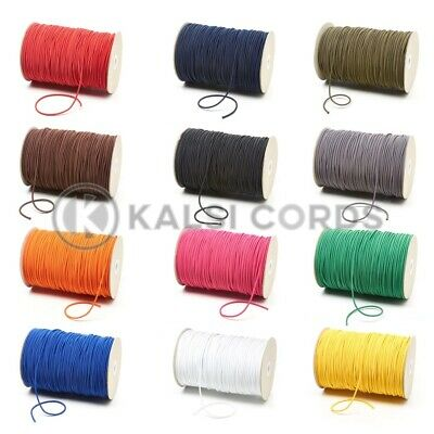 $ CDN6.05 • Buy 2mm THIN FINE ROUND ELASTIC STRETCH BUNGEE SHOCK CORD 12 COLOURS ANY LENGTHS