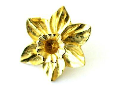 £5.75 • Buy Daffodil 22C Gold Plated  Pin Badge. Wales
