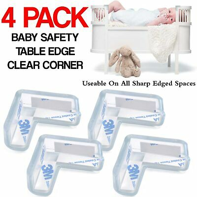 £2.79 • Buy 4x Clear Rubber Furniture Corner Edge Table Cushion Guard Protector Baby Safety