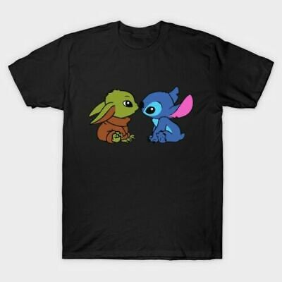 $10.99 • Buy Baby Yoda And Stitch T-Shirt Funny Tee Shirt Best Gift For Birthday S-5XL