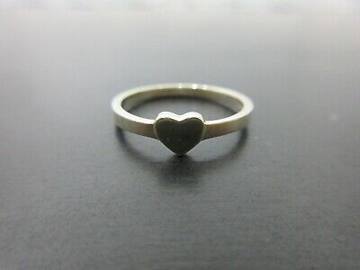 Auth Tiffany & Co. Heart Ring EU49 US5 JP9 Sterling Silver 925 Good 81987 • 30.53£
