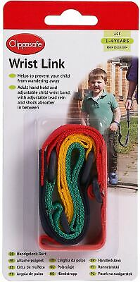 Clippasafe WRIST LINK/REINS MULTICOLOUR Baby/Child/Toddler Safety BN • 7.29£