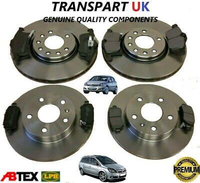 *vauxhall Astra H Zafira B Front And Rear Brake Discs And Pads Set Premium • 78.99£