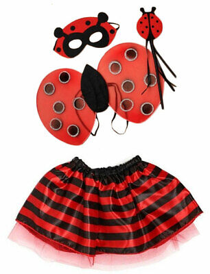 Girls Ladybird Costume Childs Insect Bug Fancy Dress Book Week Day Outfit Kids • 4.99£