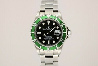 $ CDN19692.90 • Buy Rolex Green Anniversary Submariner Dive Watch D Series 16610LV 16610 W/ Papers
