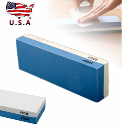 $15.20 • Buy Whetstone Knife Sharpening Stone Kit Two Sided 1000 # 4000 Grit Sharpener Water