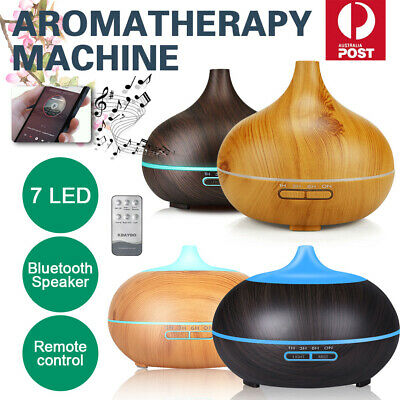 AU14.59 • Buy Diffuser Aroma Aromatherapy Essential Oil LED Humidifier Air Purifier 550/500ml