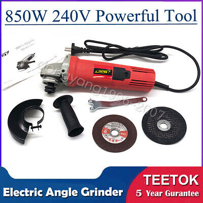 115mm 850W Electric Angle Grinder Multi Tool Cutting Sanding Polisher Metal/Wood • 18.84£