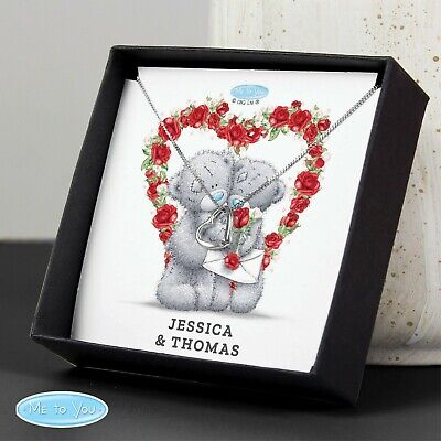 Personalised Me To You Valentine Sentiment Heart Necklace And Box • 15.99£