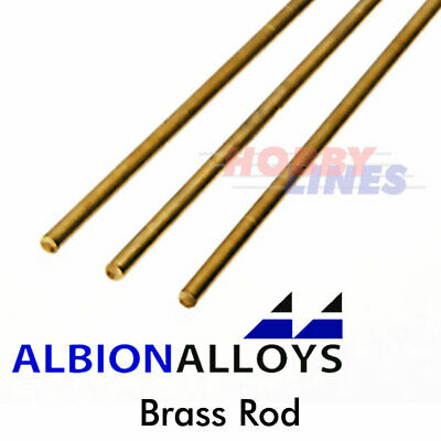 Albion Alloys Brass Rod Precision Metal Model Materials Various Sizes BW02 BW • 5.25£