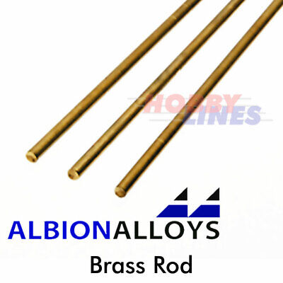 £5.25 • Buy Brass Rod ALBION ALLOYS Precision Metal Model Materials Various Sizes BW02 BW
