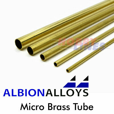 Albion Alloys Micro Brass Tube Precision Metal Model Materials Various Sizes MBT • 6.30£