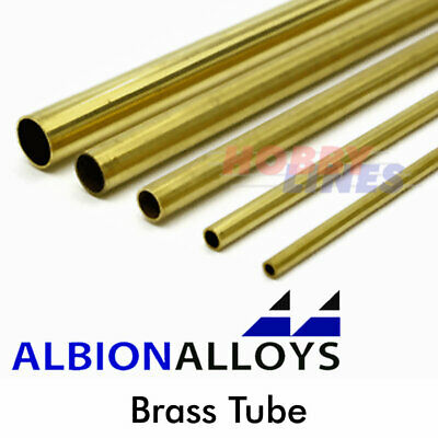 Albion Alloys Round Brass Tube Precision Metal Model Materials Various Sizes BT • 5.25£
