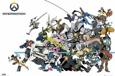 AU23.95 • Buy Poster Overwatch Battle PlayStation 4 Xbox One Nintendo Switch