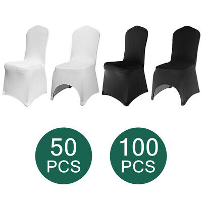 $68.88 • Buy 50/100 Universal Chair Covers Stretch Spandex Wedding Party Banquet Hotel Decor
