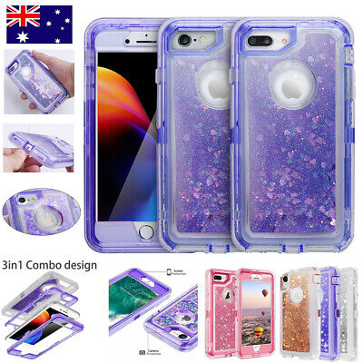 AU9.99 • Buy F IPhone 6/7/8Plus Xs XR Shockproof Glitter Liquid Bling Sparkle Hard Case Cover