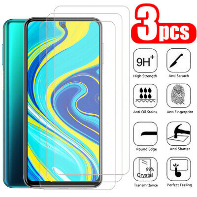 $2.98 • Buy For Xiaomi Redmi Note 9S 9 8 8T 7 6 5 Pro 3Pcs Tempered Glass Screen Protector