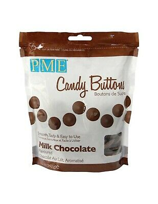 PME MILK CHOCOLATE Candy Buttons Melts -Cake Pops Sugarcraft Easy Microwaveable • 6.95£