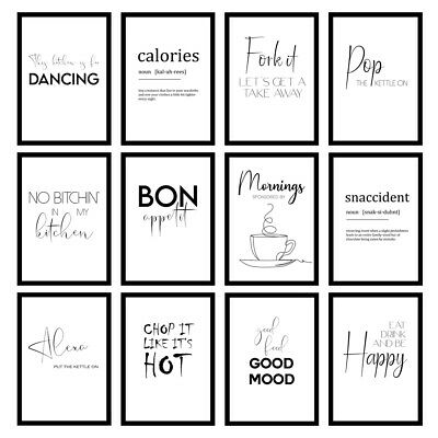 Funny Kitchen Cooking Quote Modern Minimalist Wall Art Prints Unframed Posters • 5.95£