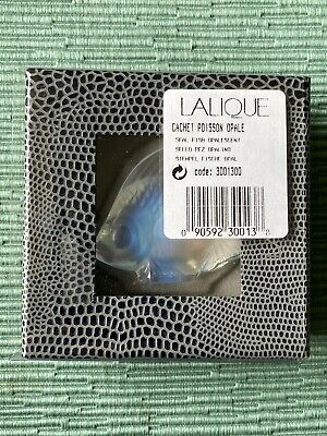 Lalique France Cachet Poisson Opalescent Seal Fish Figurine In Box - New • 70.92£