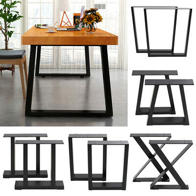 Pair Of Metal Steel Legs Industrial Style Base Frame For Dining Table Desk Bench • 63.95£