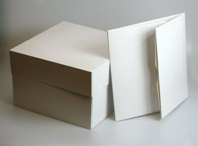 £0.99 • Buy White Cake Box WITH Lids ALL SIZES 8  To 18  Wedding Party Cupcake Boxes Party