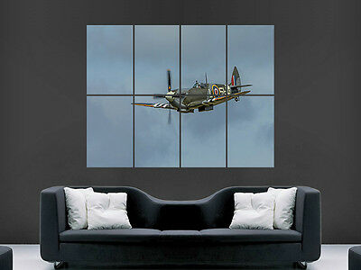 £17.99 • Buy Spitfire Aeroplane  Giant Wall Poster Art Picture Print Large Huge