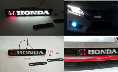 $16.99 • Buy Car Accessories LED Emblem GRILL BADGE FOR Honda Front Grilles Auto Sticker
