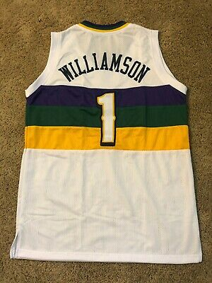 $33.99 • Buy Zion Williamson Custom New Orleans White Sewn Stitched Jersey #1 - Size Large