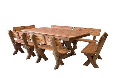 AU2190 • Buy OUTDOOR FURNITURE New Timber Outdoor Setting Seats 12 (orders Only)