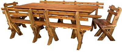 AU1800 • Buy OUTDOOR FURNITURE New Timber Outdoor Setting Seats 10 (orders Only)