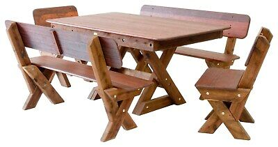 AU1950 • Buy OUTDOOR FURNITURE New Timber Outdoor Setting Seats 8 (orders Only)